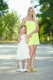 Mother and her daughter Stock Photography