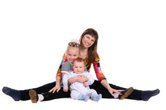 Mother, her daughter and son Royalty Free Stock Photography