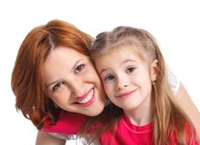 Mother and her daughter together Stock Photography