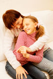Mother and her daughter Stock Photos