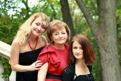 Mother and her daughters Stock Photos