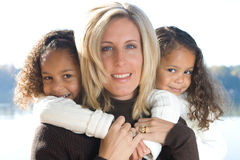 Mother and her daughters Royalty Free Stock Photo