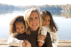 Mother and her daughters Stock Photo