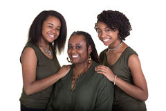 A mother and her 2 daughters Royalty Free Stock Images