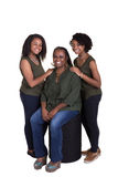 A mother and her 2 daughters Royalty Free Stock Photography