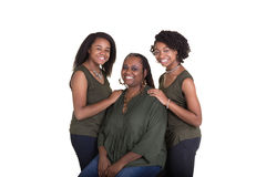 A mother and her 2 daughters Stock Images