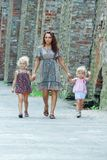 Mother with her daughters outdoor Royalty Free Stock Photography