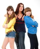 Mother and her daughters portrait Royalty Free Stock Photography