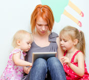 Family using tablet pc Royalty Free Stock Photo