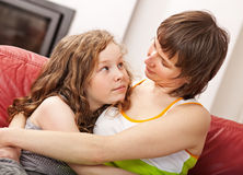 Mother and her daugther Royalty Free Stock Photo