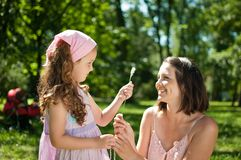 Mother with her girl Royalty Free Stock Images