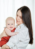 Mother with her happy child Royalty Free Stock Photos