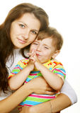 Mother and her happy  little son Royalty Free Stock Photography