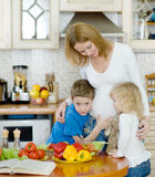 Mother and her kids Stock Image