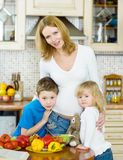 Mother and her kids Stock Images