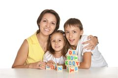 Mother and her kids Stock Photo