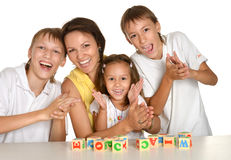 Mother and her kids Royalty Free Stock Photos