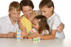 Mother and her kids Royalty Free Stock Images