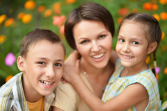 Mother with her kids Stock Photo