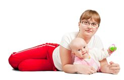Mother with her little baby Stock Photography