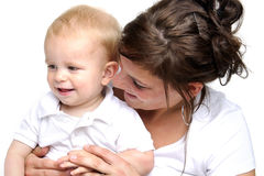 Mother and her little boy Stock Photos