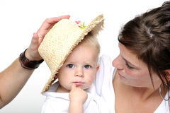 Mother and her little boy Stock Photography