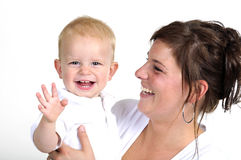 Mother and her little boy Stock Images
