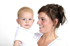 Mother and her little boy Royalty Free Stock Image