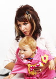 Mother with her little child Royalty Free Stock Images
