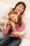 Mother and her little daughter Stock Photos