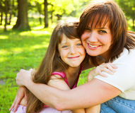 Mother and her little daughter Stock Photo