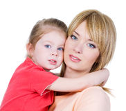 Mother with her little daughter Royalty Free Stock Images