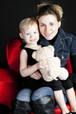 Mother with her little daughter Royalty Free Stock Image