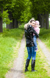 Mother with her little daughter Royalty Free Stock Photos