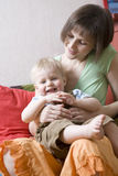 Mother with her little son Stock Photography