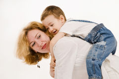 Mother and her little son Royalty Free Stock Photo