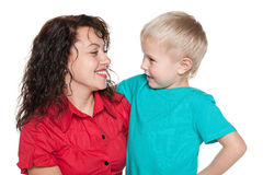 Mother with her little son Stock Images