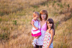 Mother and her lovely two daughter Royalty Free Stock Photography