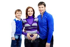 Mother and her men Royalty Free Stock Images