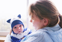Mother with her newborn baby Royalty Free Stock Images