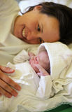 Mother with her newborn baby Stock Photography