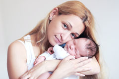 Mother and her Newborn Baby Royalty Free Stock Photo