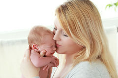 Mother and her Newborn Baby Stock Image