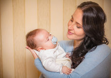 Mother and her newborn baby Stock Photography