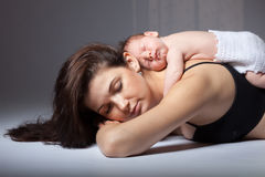 Mother with her newborn baby Royalty Free Stock Photography