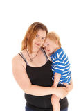 Mother with her sad little boy. Stock Photography