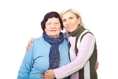 Mother with her senior daughter Royalty Free Stock Images