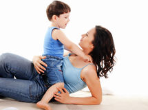 Mother and her son Royalty Free Stock Images