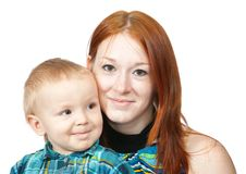 Mother with her son Stock Images