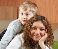 Mother with her son royalty free stock photos